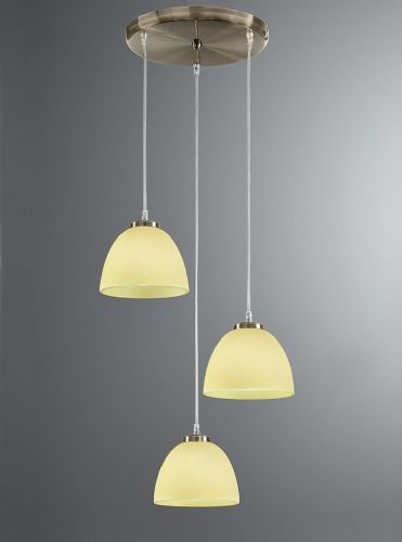 Franklite FL2256/3/940 Bronze & Lime Pendant Light